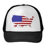 Estados Unidos trazan y la bandera de las Estrella Gorras De Camionero