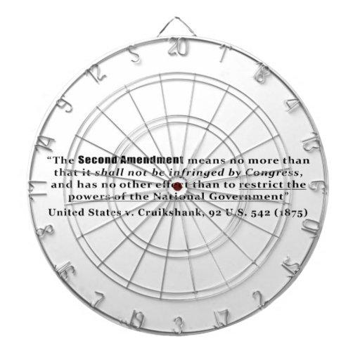 Estados Unidos v. Cruikshank, los 92 E.E.U.U. 542  Tablero Dardos