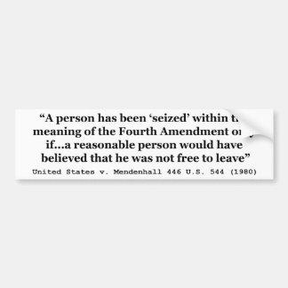 Estados Unidos v Mendenhall los 446 E.E.U.U. 544 e Etiqueta De Parachoque