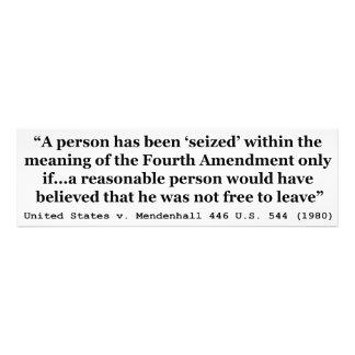 Estados Unidos v Mendenhall los 446 E.E.U.U. 544 e Foto