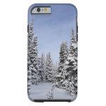 Estados Unidos, Washington, árboles nevados Funda De iPhone 6 Tough