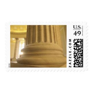 Estados Unidos, Washington, C.C. Un pilar en Sellos Postales