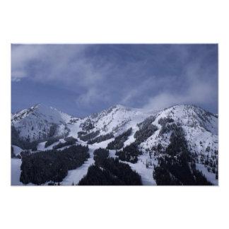 Estados Unidos, Washington, rastros del esquí en Fotografía