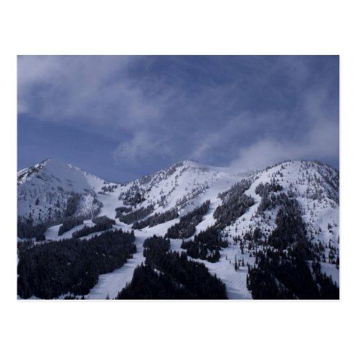 Estados Unidos, Washington, rastros del esquí en Postales