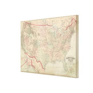 Estados Unidos y territorios Impresiones En Lona Estiradas