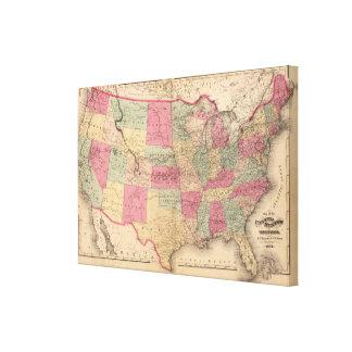 Estados Unidos y territorios Lienzo Envuelto Para Galerías