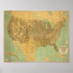Estados Unidos y territorios Poster