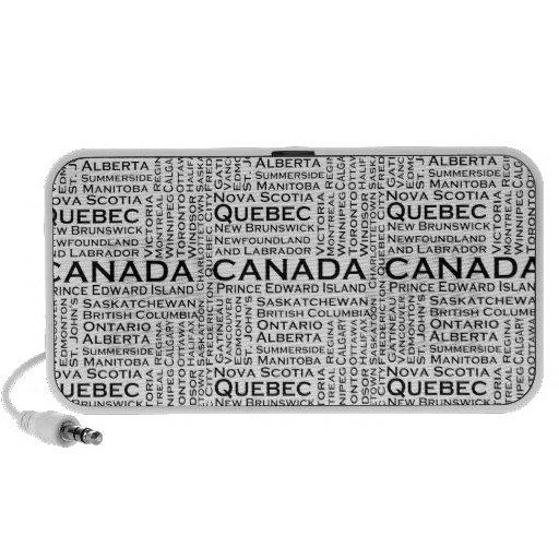 Estados y ciudades canadienses iPhone altavoces