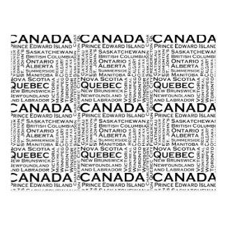 Estados y ciudades canadienses tarjeta postal