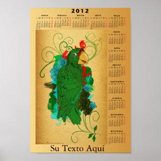 Estafa 2012 de Calendario Cotorra Puertorriqueña Impresiones