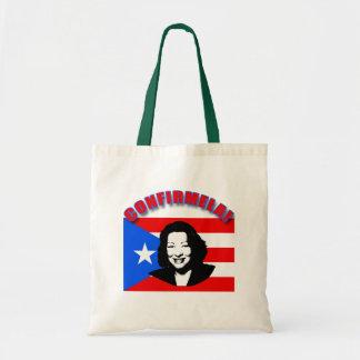 Estafa Bandera de Puerto Rico de CONFIRMELA Bolsas De Mano