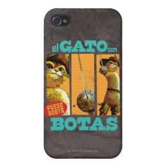 Estafa Botas del EL Gato iPhone 4 Cárcasa