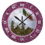 Estafa Catedral del EL Zocalo DF del en de Bandera Relojes De Pared