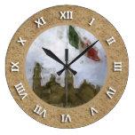 Estafa Catedral del EL Zocalo DF del en de Bandera Reloj De Pared