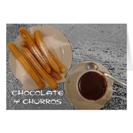 Estafa Churros de Caliente del chocolate Tarjeta De Felicitación