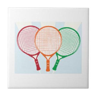 Estafa de tenis azulejos