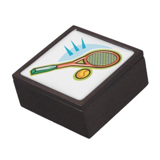 Estafa de tenis cajas de recuerdo de calidad