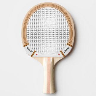 Estafa de tenis de madera del vintage pala de tenis de mesa