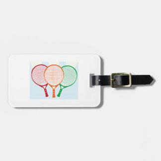 Estafa de tenis etiqueta para maleta