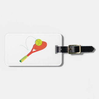 Estafa de tenis etiquetas de maletas