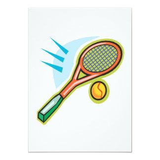 """Estafa de tenis invitación 5"""" x 7"""""""