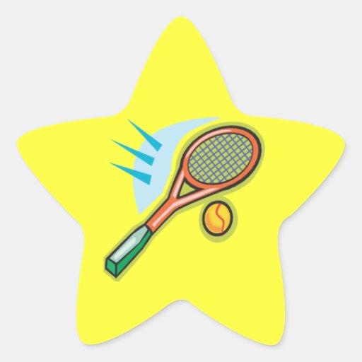 Estafa de tenis pegatina en forma de estrella