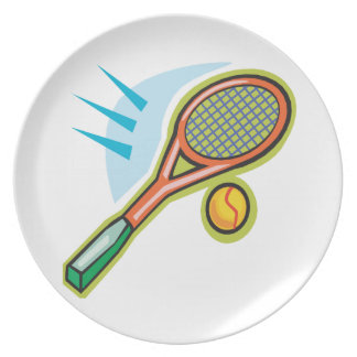 Estafa de tenis plato de cena
