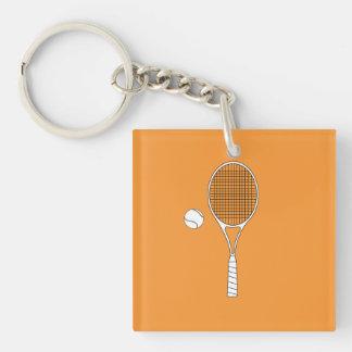Estafa de tenis y llavero de la bola/llavero