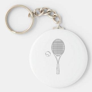 Estafa de tenis y llavero del esquema de la bola