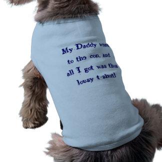 Estafa del papá camisetas de mascota