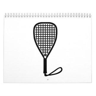 Estafa del Racquetball Calendarios De Pared