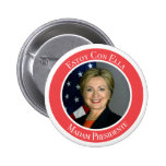 Estafa Ella de Clinton - de Estoy - señora Pin Redondo De 2 Pulgadas