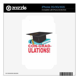 Estafa-Graduado-Ulations Calcomanías Para El iPhone 3GS