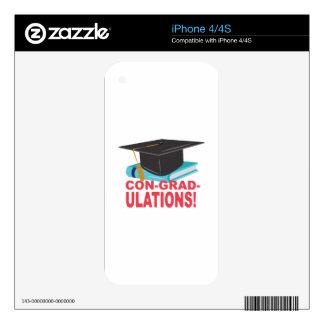 Estafa-Graduado-Ulations iPhone 4 Calcomanías