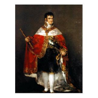 Estafa mA de Retrato de Fernando VII de la descrip Postales