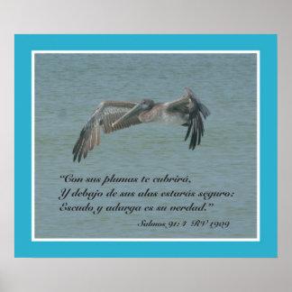 Estafa Pelicano Volando (cártel) del 91:4 de Salmo Póster
