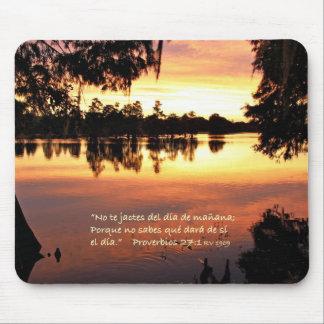 Estafa Puesta del Sol de Proverbios 27-1 Alfombrilla De Ratones