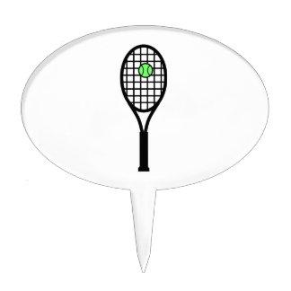 Estafa y bola de tenis decoración de tarta