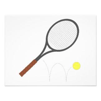 Estafa y bola de tenis invitacion personal