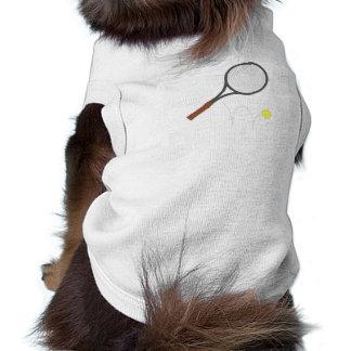 Estafa y bola de tenis camiseta de perrito