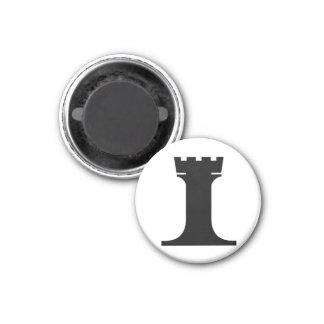 estafador negro (usted necesidad 2) imán redondo 3 cm