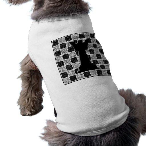Estafador y tablero del juego de ajedrez playera sin mangas para perro