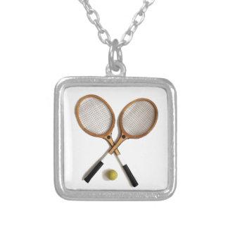 estafas de tenis, deportes, partidos, colgante cuadrado