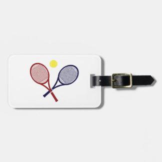 Estafas de tenis etiqueta para maleta