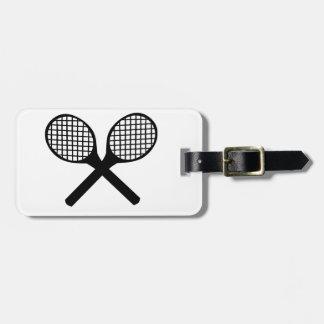 Estafas de tenis etiquetas de maletas