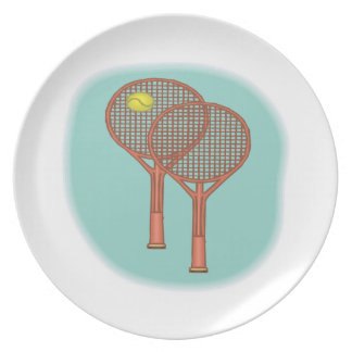Estafas de tenis plato para fiesta