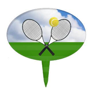 ESTAFAS del campo de tenis y de TENIS Decoración Para Tarta