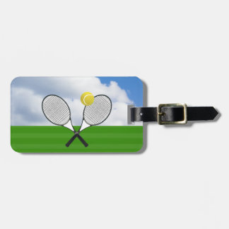 ESTAFAS del campo de tenis y de TENIS Etiquetas De Maletas