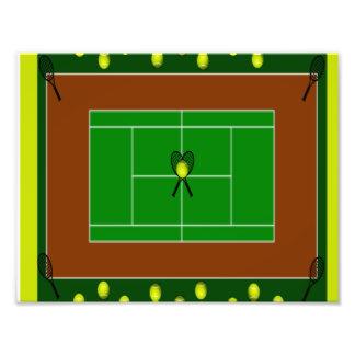 Estafas del campo de tenis y de tenis impresión fotográfica