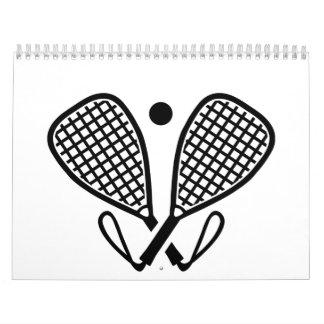 Estafas del Racquetball Calendarios De Pared